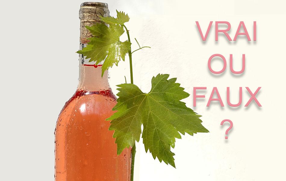rosé vrai ou faux